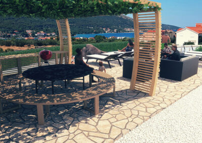 Boutique glamping Ante-Gojko gathering point by the pool