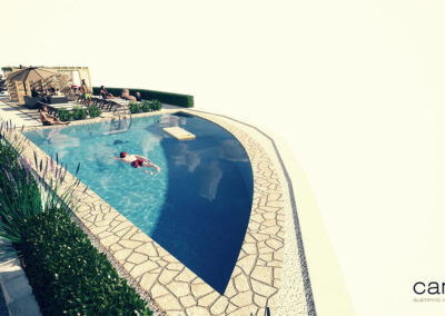 Boutique glamping Ante-Gojko - pool view